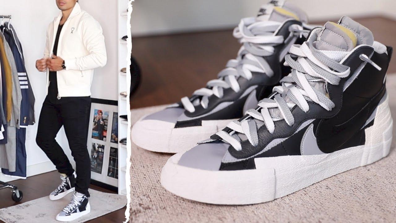 HOW TO STYLE NIKE SACAI BLAZER FOR FALL   Sneakers & Style: Review & Outfits