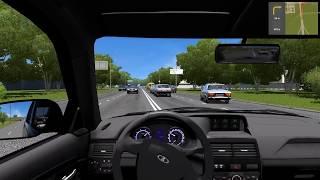 УВЕРНУЛСЯ ОТ АВАРИИ В ПОСЛЕДНЮЮ СЕКУНДУ НА ПРИОРЕ 200 км/ч - CITY CAR DRIVING! РЕАЛЬНАЯ ЖИЗНЬ
