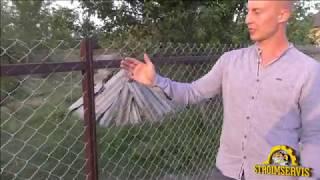 как сделать ворота из сетки рабицы