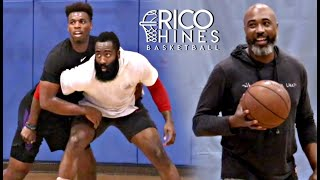 james-harden-and-buddy-hield-at-rico-hines-private-run