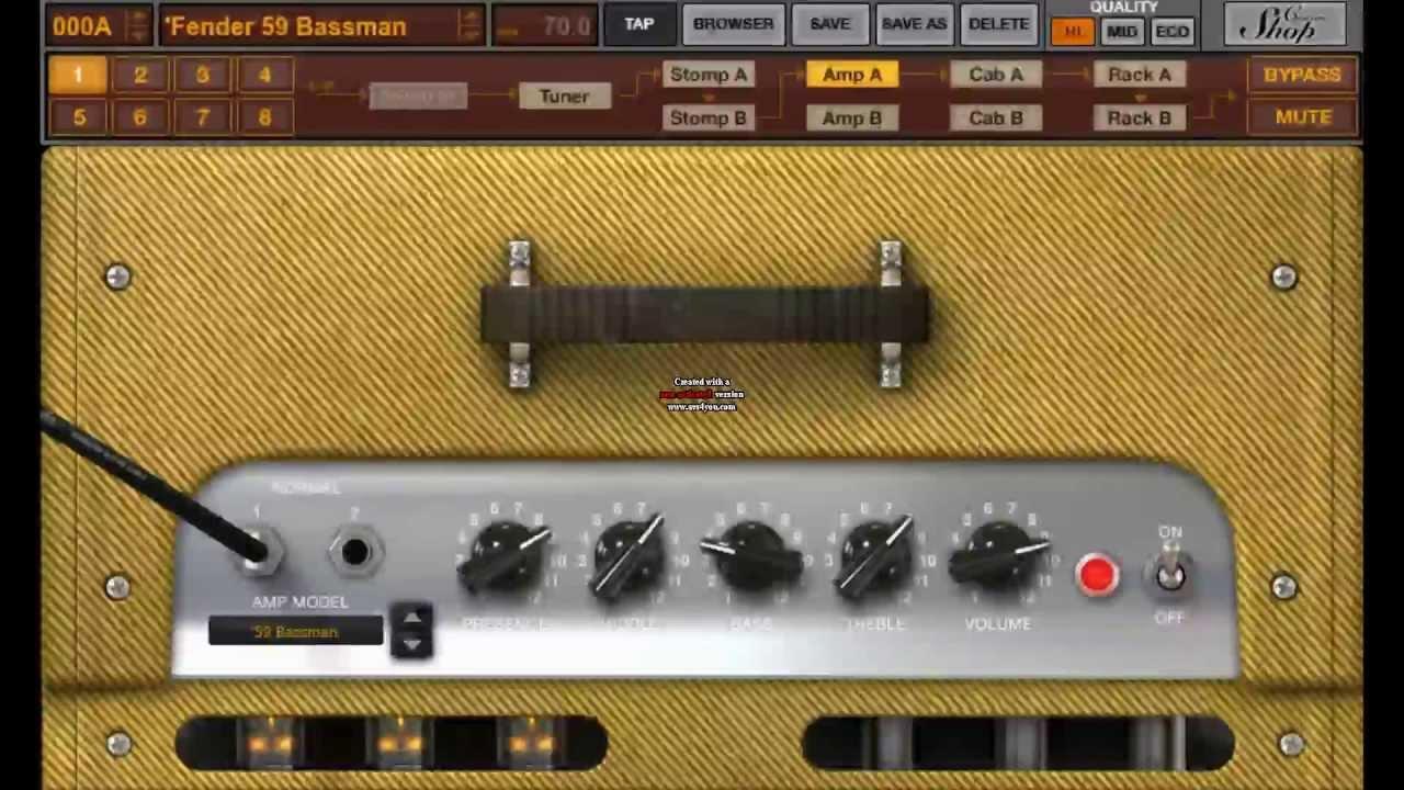 amplitube 3 fender 59 bassman hendrix voodoo youtube. Black Bedroom Furniture Sets. Home Design Ideas