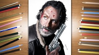 Speed Drawing: Rick Grimes - Andrew Lincoln in the Walking Dead TV Show | Jasmina Susak