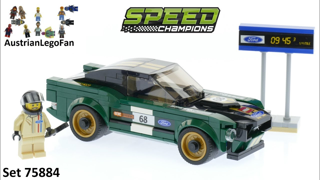 Lego Speed Champions 75884 1968 Ford Mustang Fastback - Lego Speed Build  Review
