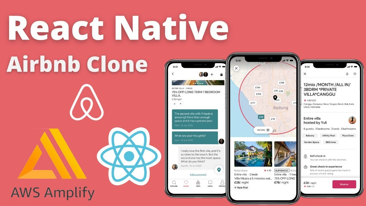 Build the Airbnb app in React Native & AWS Amplify [ Backend ]