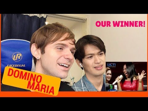 Maria DOMINO Reaction (Indonesian Idol Spekta Show Top 5)