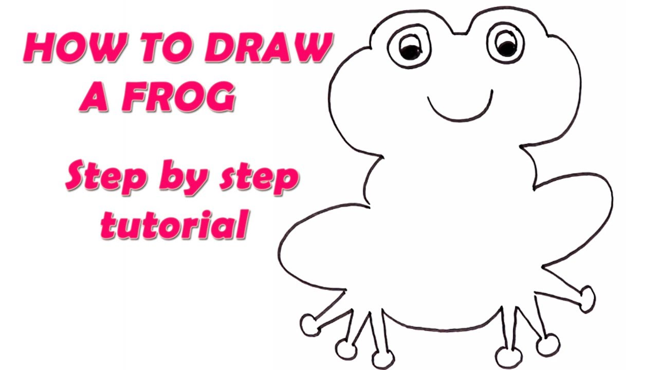 How to Draw a Frog For Kids - Step By Step Drawing - Learn ...