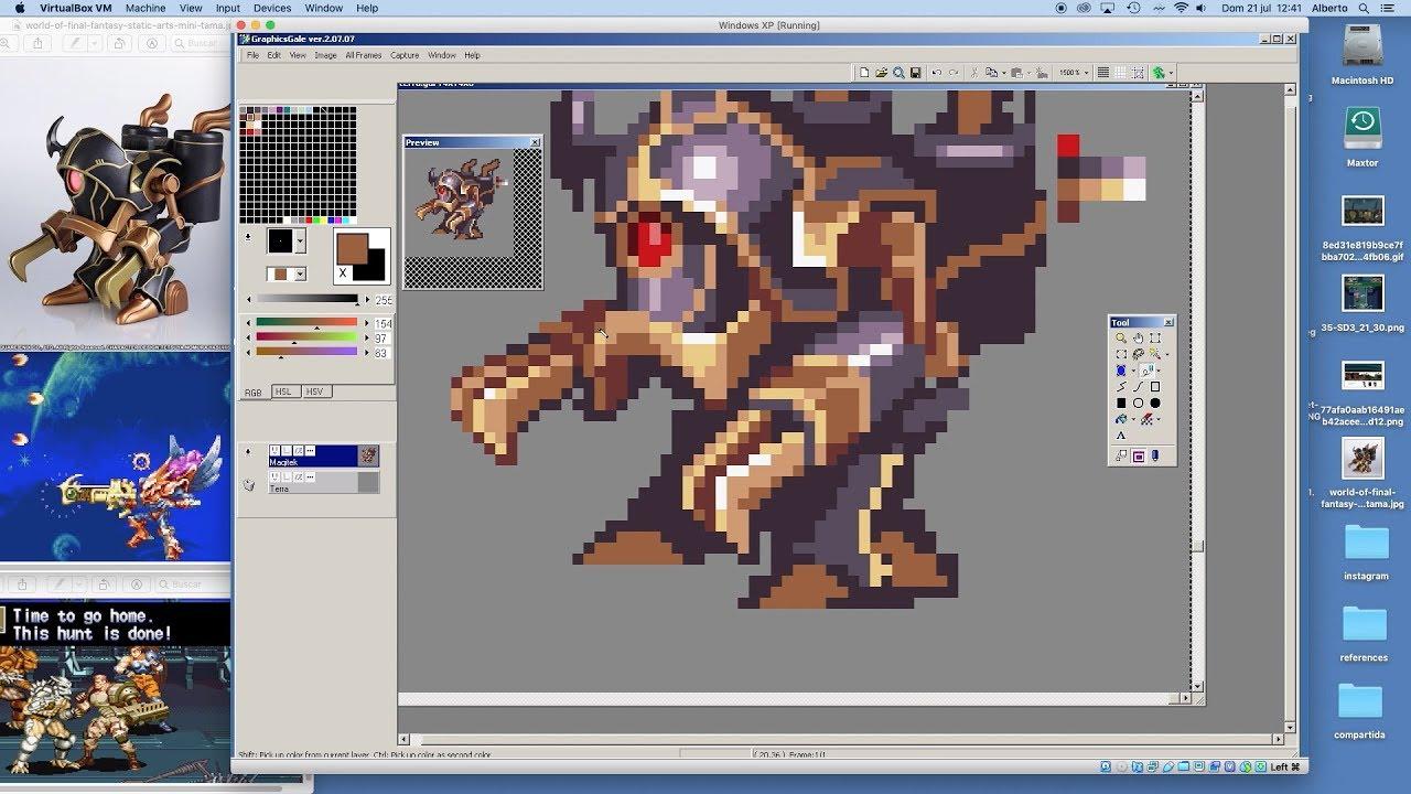 PIXEL ART TIMELAPSE - Terra and the Magitek Armor (Final Fantasy VI) -  GraphicsGale