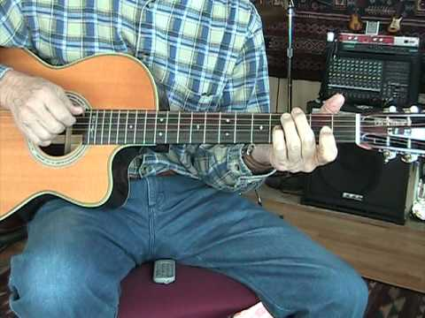 Travelin' Man - Ricky Nelson Cover - Acoustic Guitar Chord Melody Solo - Jim Wright