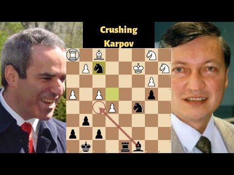 Garry Kasparov Crushes Anatoly Karpov