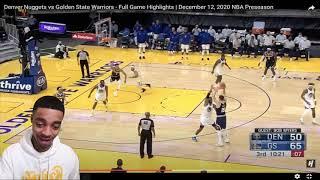 FlightReacts Nuggets vs Golden State Warriors - Full Game Highlights | December 12, 2020!