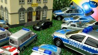 Polizei Einsatz Cars of the City: Banküberfall Großeinsatz Toy cars Bank robbery Policecars