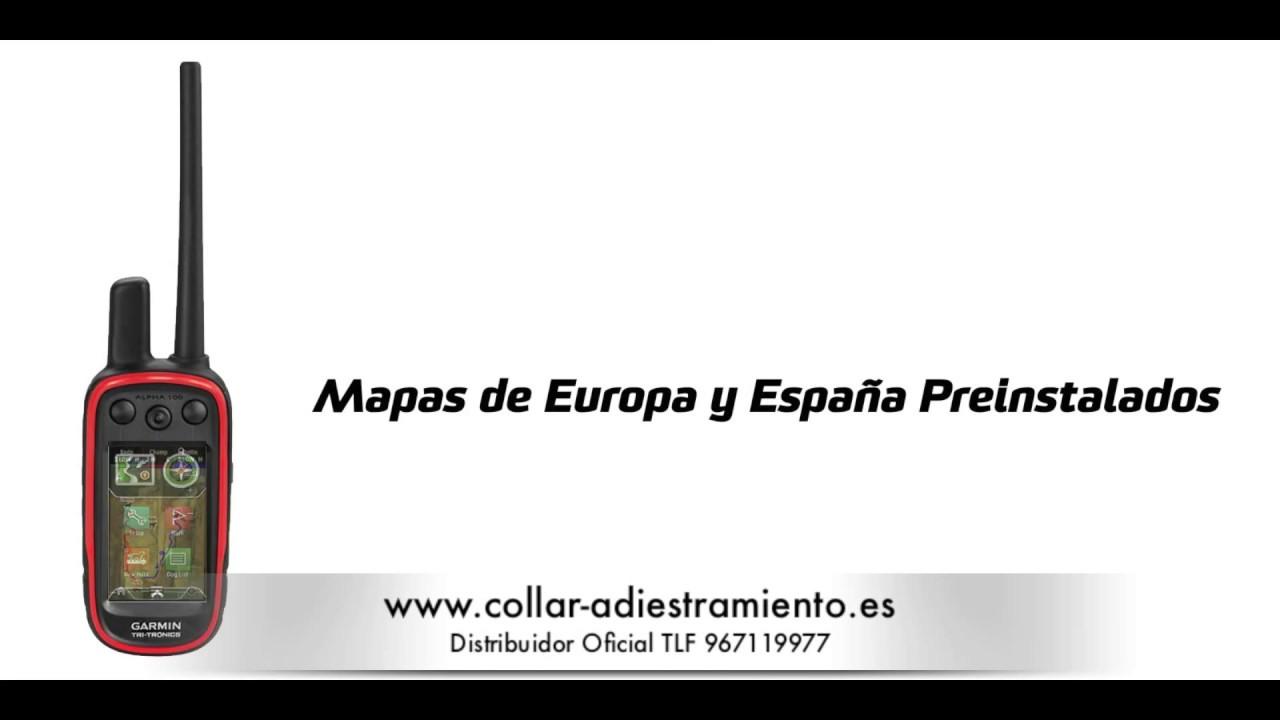 89aa357223fc Garmin Alpha 100 T5 español localizador GPS perros caza mejor precio. collar  adiestramiento para perros