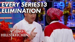 Every Series 13 Elimination in Hell's Kitchen