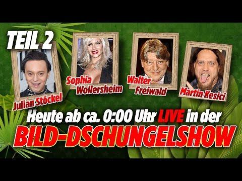 BILD-Dschungel-Show - Stoeckel, Sophia Wollersheim, Walter Freiwald, Kesici - TAG 8 - 20.01.17