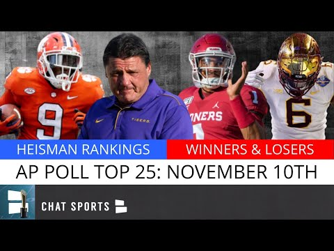AP Poll: College Football Top 25 Rankings For Week 11, Heisman Trophy Top 5 + Winners & Losers
