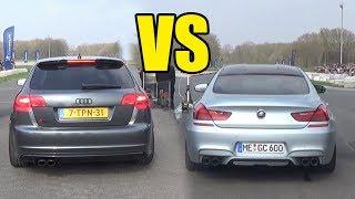 AUDI RS3 vs BMW M6 - DRAG RACE! RS3 WON?!😱😱