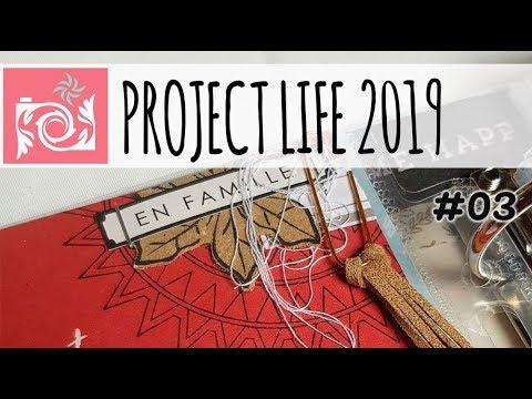 Project Life 2019 en français 15x30 cm // Semaine #02