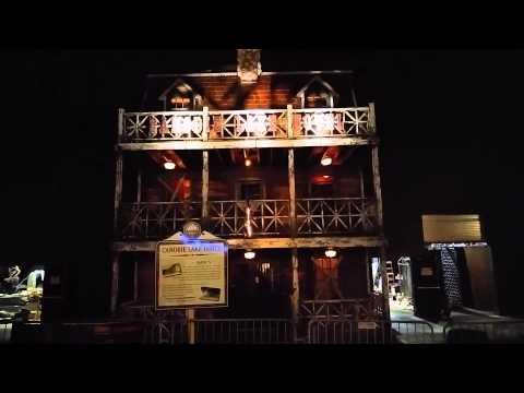 Canobie Hotel Haunted House lighting effect  YouTube