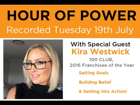 Juice Plus+® Hour of Power: Kira Westwick: 100 Club,  Franchisee of the Year 2016