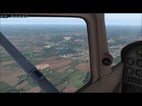 x-plane 11 PB17 Cessna 172 EDDL Düsseldorf to EDLW Dortmund VFR ILS Ortho4xp World2xp