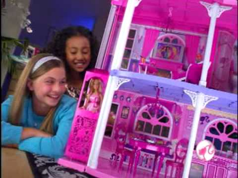 Barbie Pink 3 Story Dream Townhouse In Action Youtube