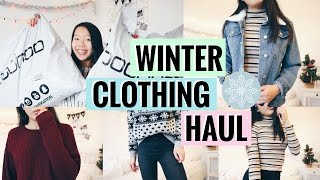 BOOHOO WINTER CLOTHING HAUL 2016! TRY ON + UNBOXING