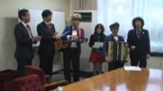 別府市のまちあるき団体のみなさんが広島長崎平和五輪招致を応援するた...