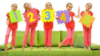 Cinco Macaquinhos - Canções Infantis por Sunny Kids Songs