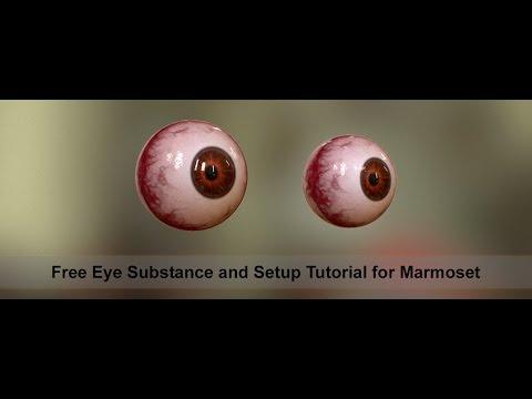 Substance And Marmoset Realistic Eye Setup Youtube