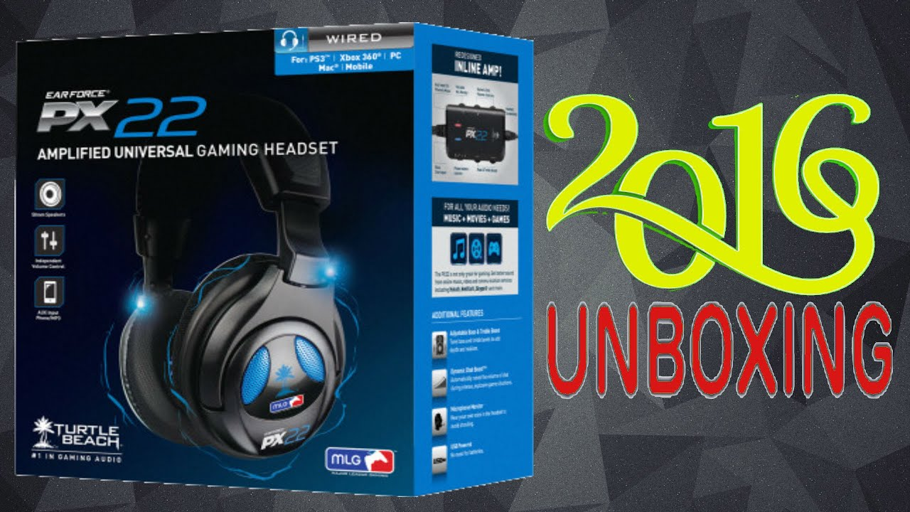PS3 PC Xbox 360 Turtle Beach Ear Force PX22 Universal Amplified Gaming Headset