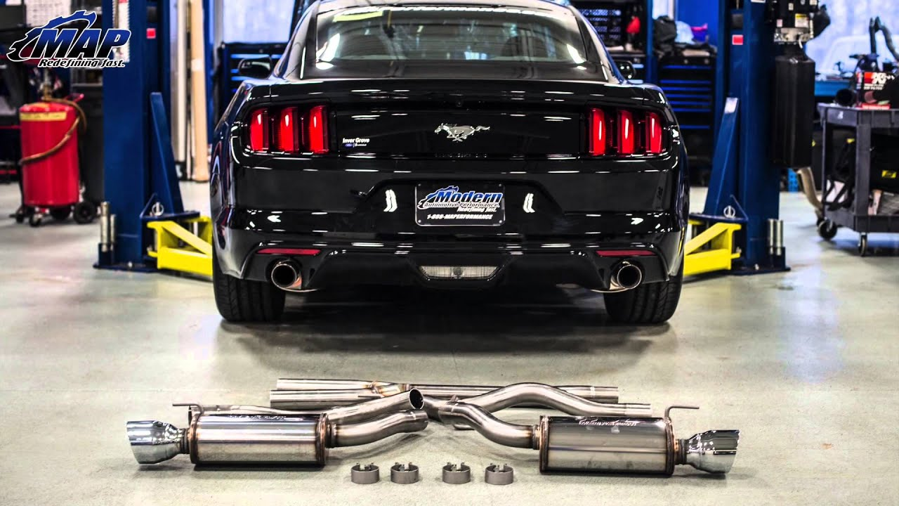 magnaflow sport catback exhaust kit 19097 for 2015 ecoboost mustang sound clips review