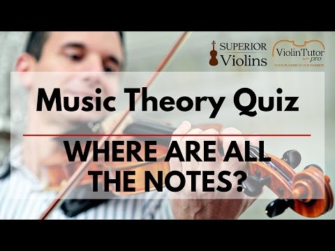 Music Theory Quiz  - Where are all the notes