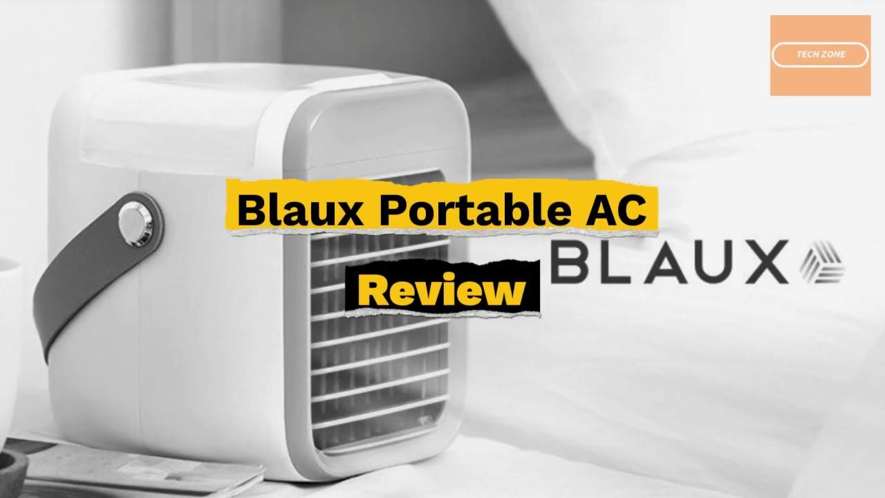 Blaux Portable AC Review 2020 - YouTube