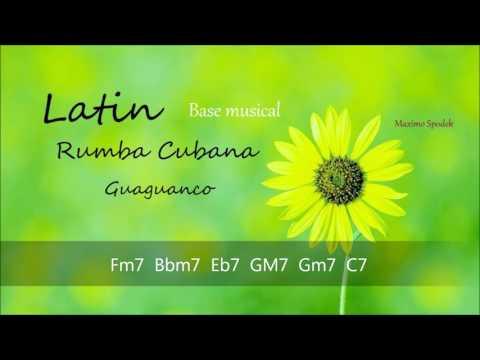 BASE MUSICAL DE RUMBA CUBANA / GUAGUANCO EN F PARA TROMPETA, PIANO, GUITARRA, FLAUTA, PERCUSION ETC
