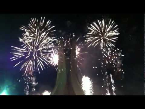 Feux d'artifice du 50ème Anniversaire de l'indépendance à Maqam Echahid - en HD - 05/07/2012