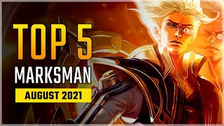 Top 5 Best Marksman Heroes in August 2021 | Natan Arrives! Mobile Legends