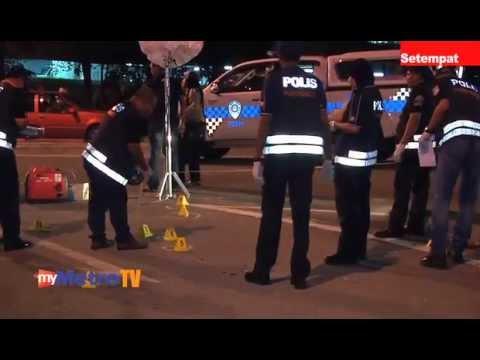 Dua anggota polis cedera ditembak penjenayah