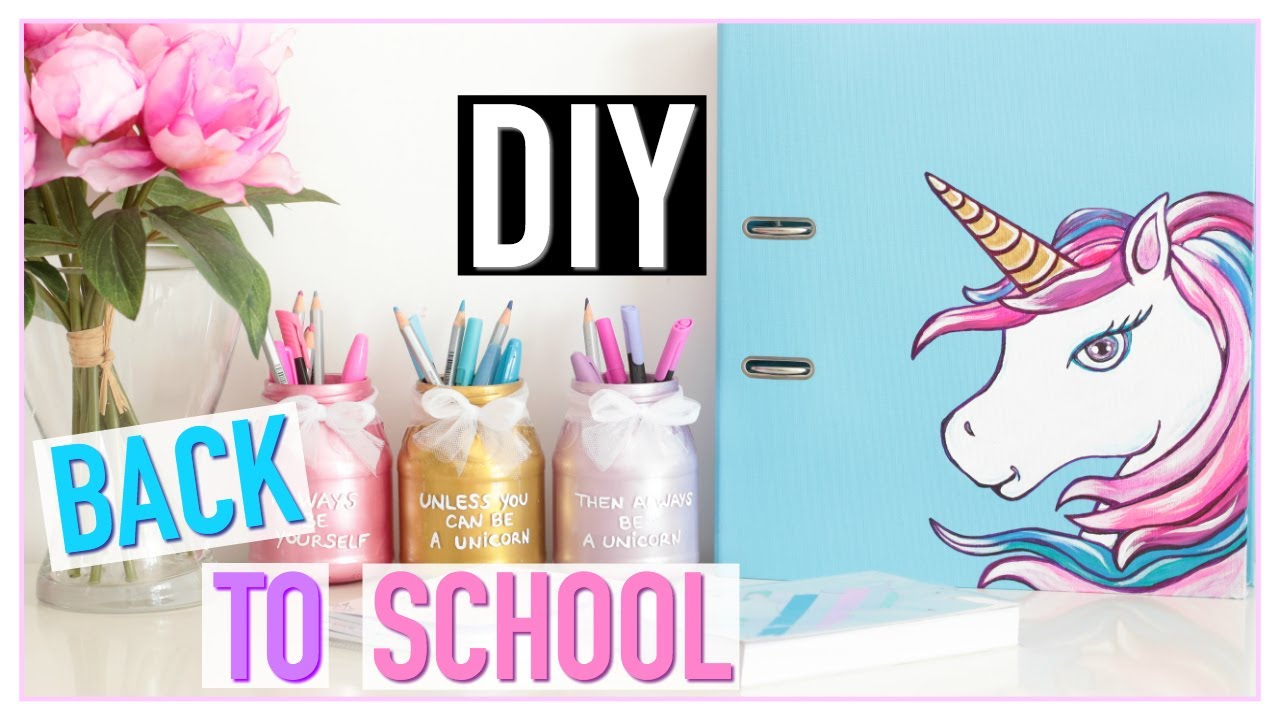 diy back to school licorne pas cher fournitures scolaires fran ais youtube. Black Bedroom Furniture Sets. Home Design Ideas