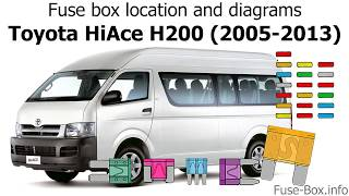 Fuse box location and diagrams: Toyota HiAce H200 (2005-2013) - YouTubeYouTube