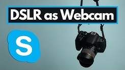 How to Use DSLR as a Skype Webcam?