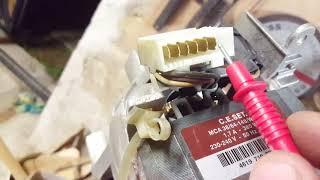 Branchement moteur machine a laver moteur Mca 38 64 148 whe 3