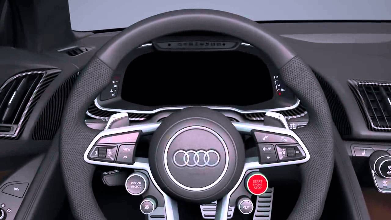 2017 audi r8 interior animation european model youtube. Black Bedroom Furniture Sets. Home Design Ideas