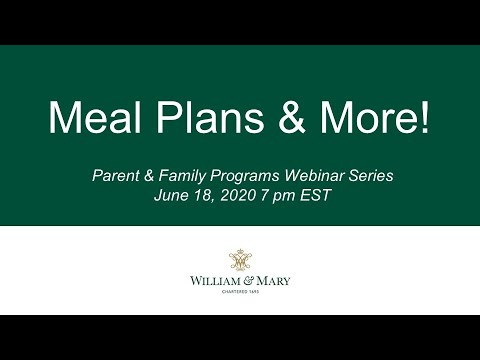Meal Plans & More!