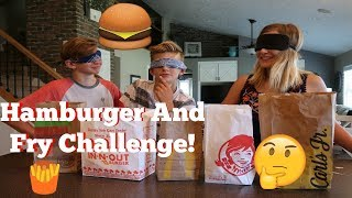 Hamburger And Fry Challenge!!!