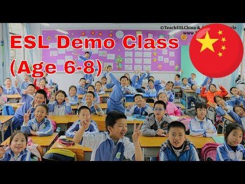 esl-demo-class- -teaching-steps- -teaching-english-in-china-101- -age-6-8
