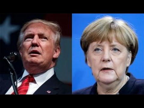 Thumbnail: Trump trades jabs with Germany's Merkel over refugee policy