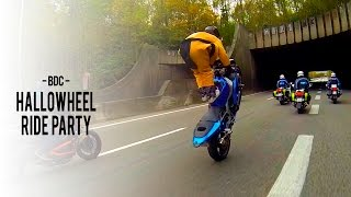 bdc freeride hallowheel ride party 2014 wheelings and stunts from france