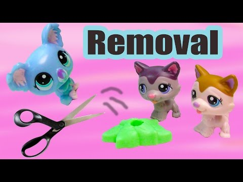 lps-diy-removing-littlest-pet-shop-mcdonalds's-happy-meal-toys-from-stands-tutorial