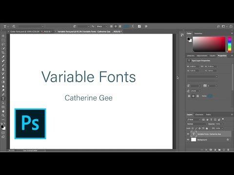 Photoshop Sneak Peek: Variable Fonts Coming to Photoshop CC   Adobe Creative Cloud