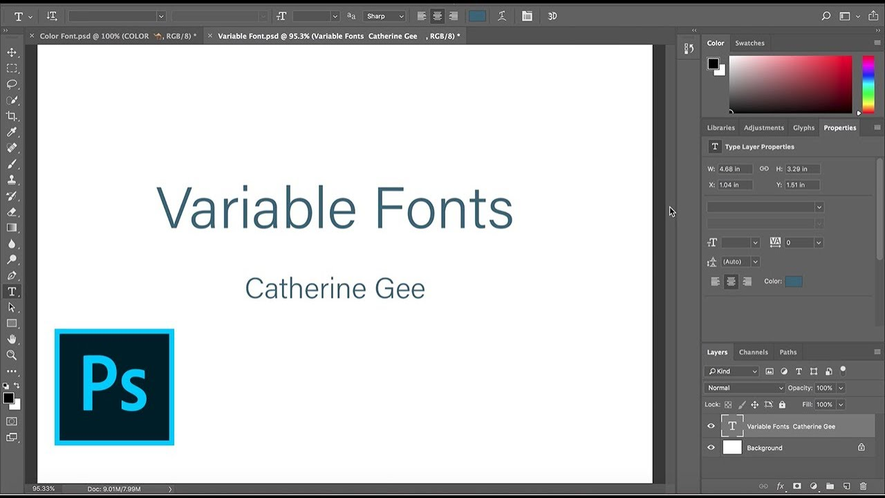 Photoshop Sneak Peek: Variable Fonts Coming to Photoshop CC | Adobe Creative Cloud